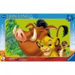 Puzzle cadre - 15 pièces - Le roi lion : Simba, le lionceau