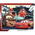 Puzzle cadre 35 pièces : Cars : Rendez-vous au Flo's Café