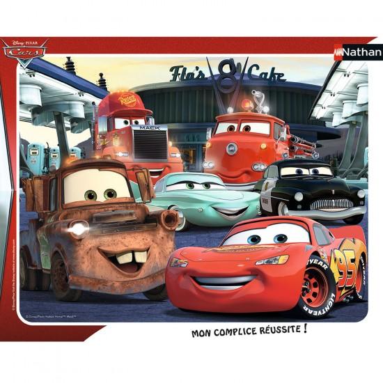 Puzzle cadre 35 pièces : Cars : Rendez-vous au Flo's Café - Nathan-Ravensburger-86121