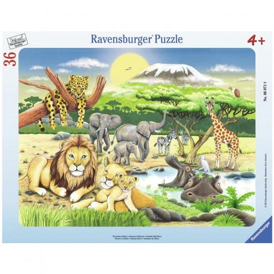 Puzzle cadre 36 pièces : Les animaux d'Afrique - Ravensburger-06071