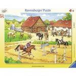 Puzzle cadre 37 pièces : Le centre équestre