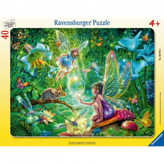Puzzle cadre 40 pièces : La magie des fées - Ravensburger-06076