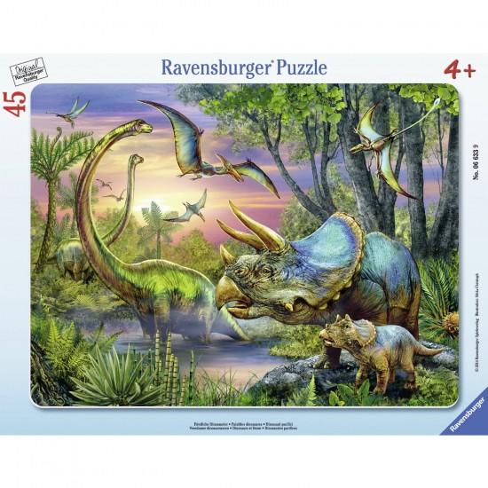Puzzle cadre 45 pièces : Paisibles dinosaures - Ravensburger-06633