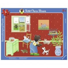 Puzzle Cadre 8 pièces : Petit Ours Brun et les animaux familiers