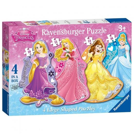 Puzzle évolutif 10 à 16 pièces : Personnages : Princesses Disney - Ravensburger-07398