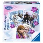 Puzzle évolutif 25 à 49 pièces : Anna, Elsa et leurs amis