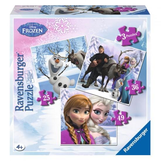 Puzzle évolutif 25 à 49 pièces : Anna, Elsa et leurs amis - Ravensburger-07276