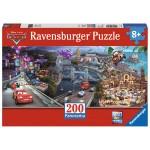 Puzzle Panoramique 200 pièces XXL : Cars 2