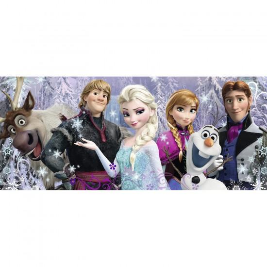 Puzzle Panoramique 200 pièces XXL : La Reine des Neiges (Frozen) : Arendelle sous neiges éternelles - Ravensburger-12801