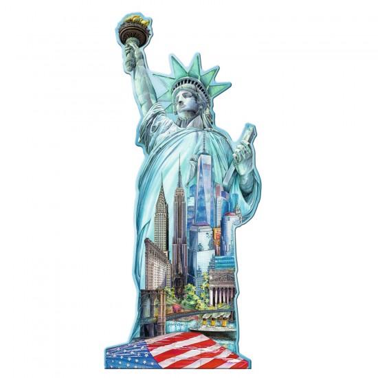 Puzzle silhouette 1000 pièces : Statue de la Liberté - Ravensburger-16151