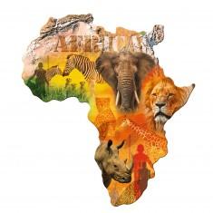 Puzzle silhouette 1114 pièces : Afrique