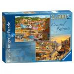 Puzzles 2 x 500 pièces : Au bord de l'eau