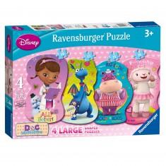 Puzzles de 10 à 16 pièces : 4 puzzles Docteur La Peluche et ses amis