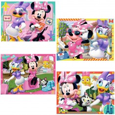 Puzzles de 12 à 24 pièces : 4 puzzles Minnie Mouse