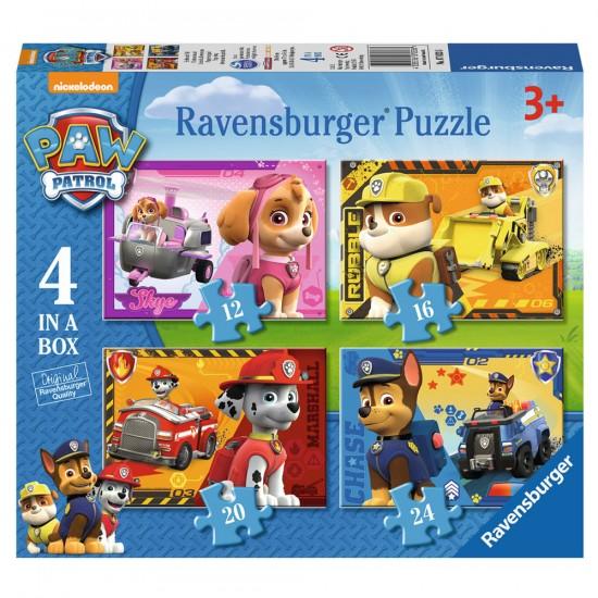 Puzzles de 12 à 24 pièces : 4 puzzles Pat'Patrouile (PAW Patrol) - Ravensburger-7033