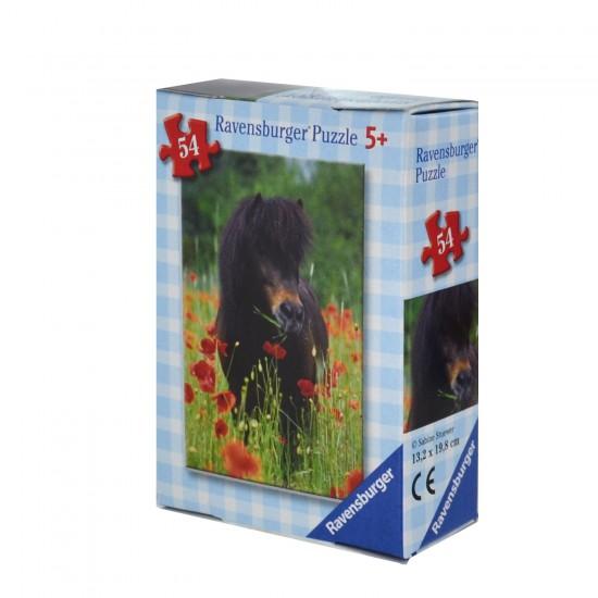 Puzzzle 54 pièces : Mini puzzle Chevaux : Poney dans champ de coquelicots - Ravensburger-09450-4
