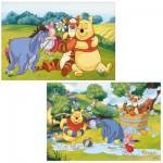 Puzzle 2x12 pièces : Winnie l'ourson : Belle journée avec Winnie