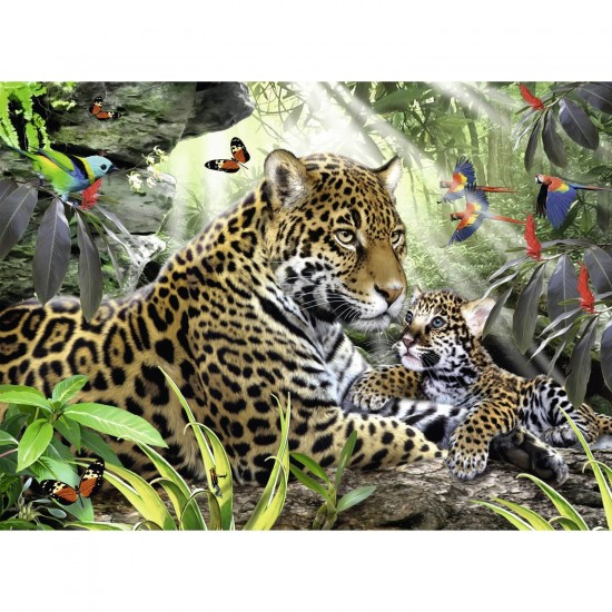 Puzzle 500 pièces : Bébé jaguar - Ravensburger-14486