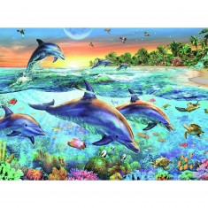 Puzzle 500 pièces : La baie des dauphins
