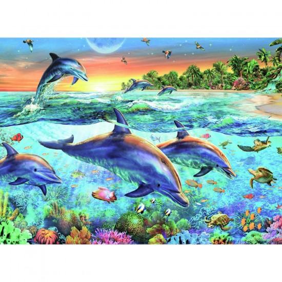 Puzzle 500 pièces : La baie des dauphins - Ravensburger-14210