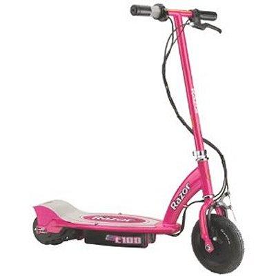 trottinette lectrique scooter e100 rose jeux et jouets razor avenue des jeux. Black Bedroom Furniture Sets. Home Design Ideas