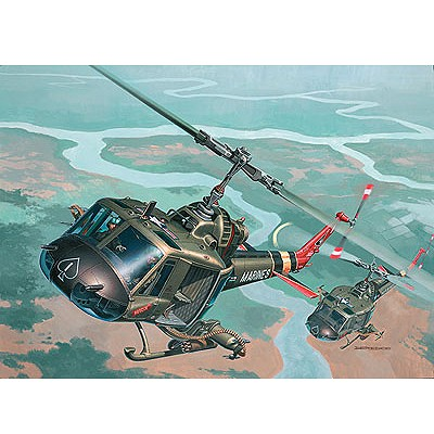 Maquette hélicoptère:  Bell UH-1 Huey Hog - Revell-04476