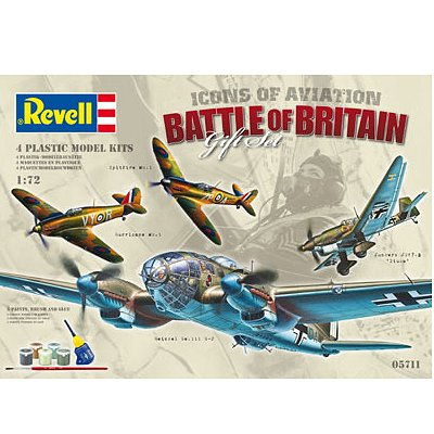 Maquettes avions: Battle of Britain Gift Set : 4 modèles - Revell-05711