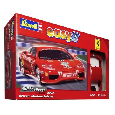 Maquette voiture  : Easy Kit : Ferrari 360 Challenge Markus Lehner - Revell-07138