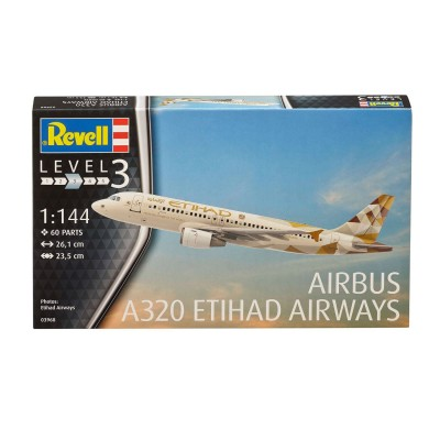 Maquette Avion : Model-Set : Airbus A320 Etihad - Revell-63968