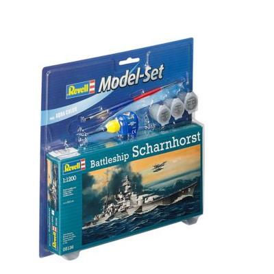 Maquette bateau : Model Set Battleship Scharnh - Revell-65136