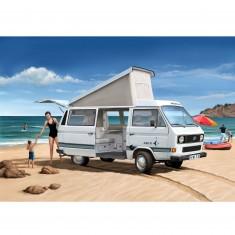 Maquette bus : Model-Set : Volkswagen T3 Camper (peinture et colle fournies)