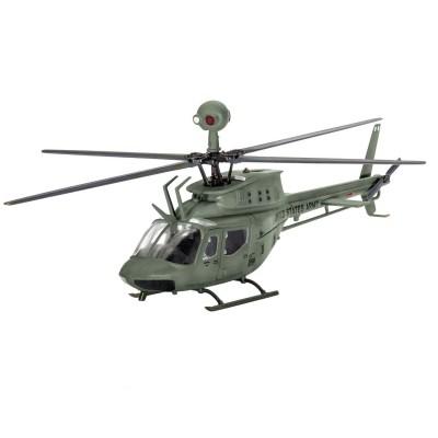 Maquette hélicoptère : Model Set Bell OH-58D Kiowa - Revell-64938