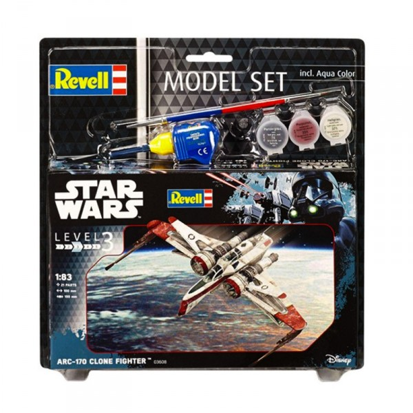 Maquette Star Wars : Model-Set : ARC-170 Fighter - Revell-63608