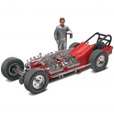 Maquette véhicule et figurine : Tommy Ivo et dragster Showboat