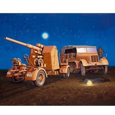 Maquette Véhicule Militaire : Sd.Kfz. 7 & 8,8cm Flak 37 - Revell-03210