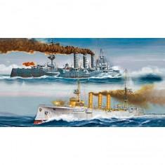 Maquettes bateaux : Croiseurs allemands SMS Dresden et SMS Emden