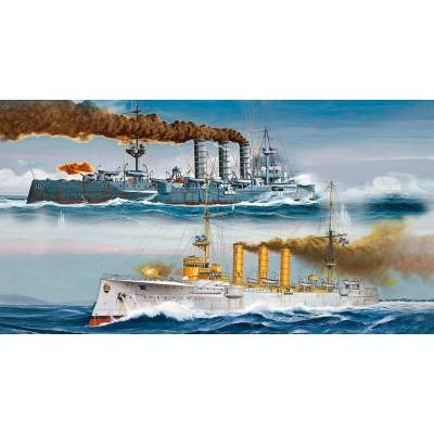 Maquettes bateaux : Croiseurs allemands SMS Dresden et SMS Emden - Revell-05500