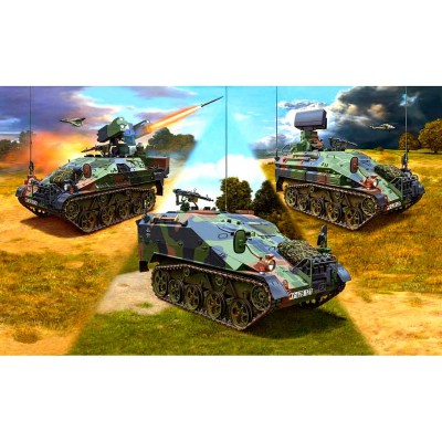 Maquettes chars : WIESEL 2 LeFlaSys (Ozelot & AFF & BF/UF) - Revell-03205
