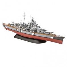 Maquette bateau: Navire de guerre Bismarck