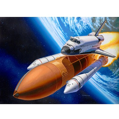 Maquette Navette: Space Shuttle Discovery & Booster Rockets - Revell-04736