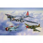 Maquettes avions : Flying Legends 8th USAAF : B-17G, P-47D et P-51B