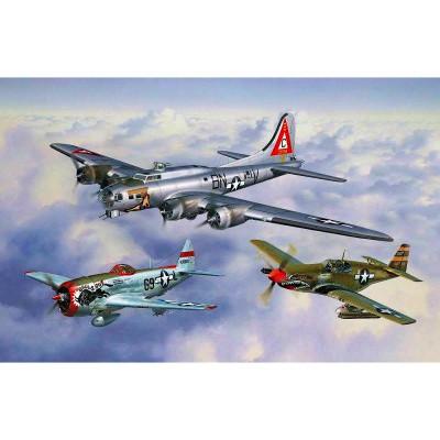 Maquettes avions : Flying Legends 8th USAAF : B-17G, P-47D et P-51B - Revell-05794