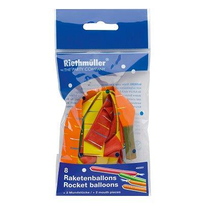Ballons de baudruche Fusée avec embout : Lot de 8 ballons - Riethmuller-460001