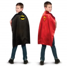 Cape réversible Superman / Batman