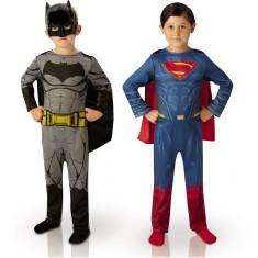 Déguisement Bipack Batman et Superman : Dawn Of Justice : 3/4 ans
