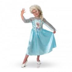 Déguisement La Reine des Neiges (Frozen) : Elsa avec Perruque - 7/8 ans