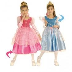 Déguisement Princesse enchantée : Panoplie luxe reversible Rose/Bleu : 3/4 ans