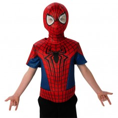 Déguisement Spiderman : Plastron 3D et cagoule : Taille standard