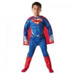 Déguisement Superman Man of Steele Luxe avec Muscles EVA : 7/8 ans