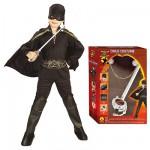 Déguisement Zorro avec épée : 8/10 ans